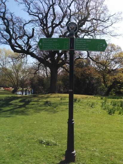 Springfield Park Wegweiser