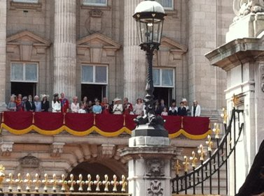 Balcony Scene Royal Family Trooping the Colour 2011