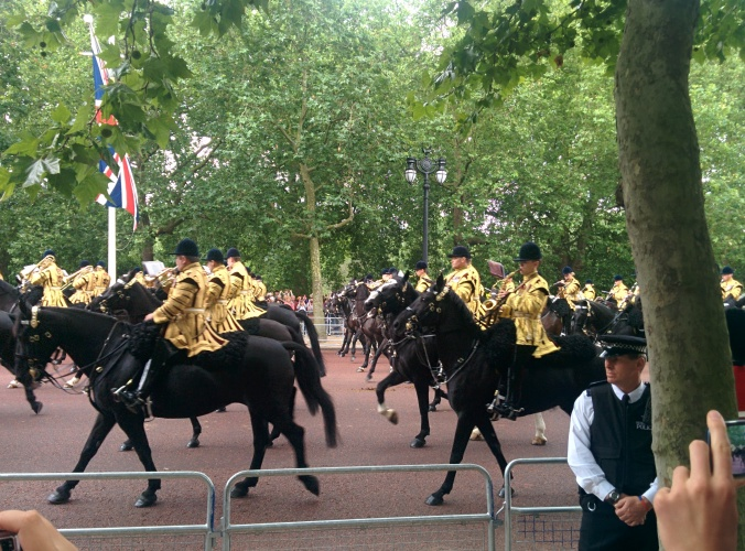 Trooping 2014 horses